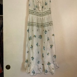 Simple blue flower slip dress vintage